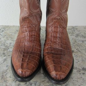 Max Leather Western Cowboy Boots Sz 6 EE